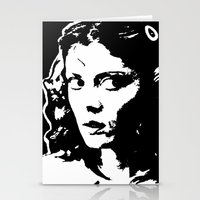 rocky horror picture show Stationery Cards featuring Janet Weiss (Rocky Horror Picture Show) by Blake Lee Ferguson