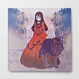 Wolf Princess Naomi Metal Print