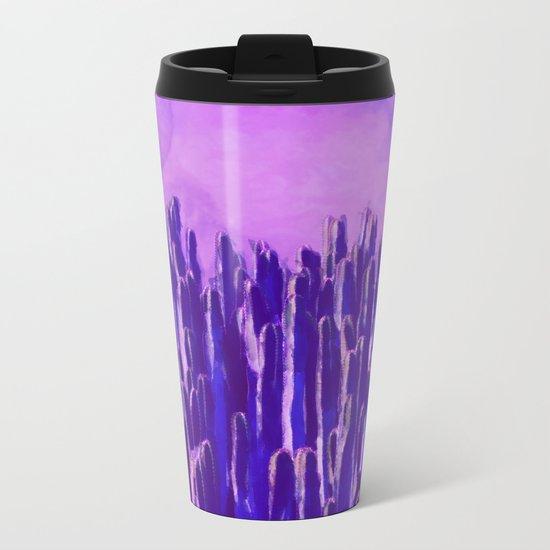 Cacti landscape Metal Travel Mug