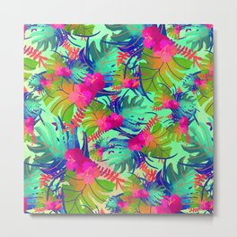 Nature flower pattern Metal Print