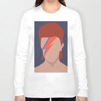 bowie Long Sleeve T-shirts featuring Bowie by Zoebellsmith
