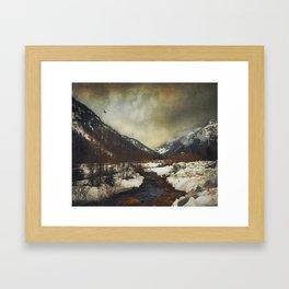 Wild Winter Valley Framed Art Print