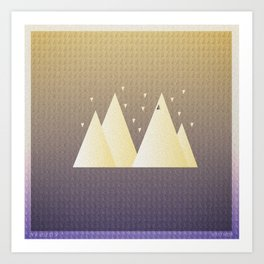Music in Monogeometry : Bon Iver Art Print