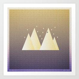 Music in Monogeometry : Bon Iver Art Print