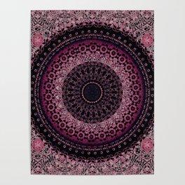Rosewater Tapestry Mandala Poster