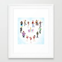 glee Framed Art Prints featuring Glee: Season 2 by Tunasammiches