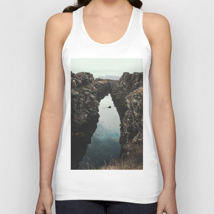 I left my heart in Iceland - landscape photography Unisex Tanktop