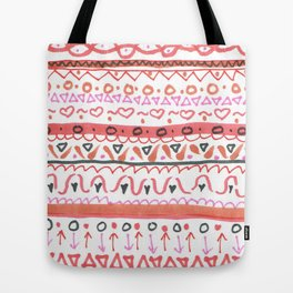 Red Design Tote Bag