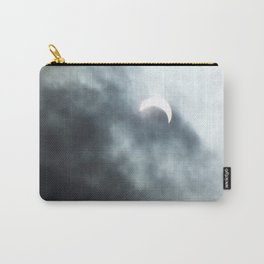 partial solar eclipse in clouds Carry-All Pouch