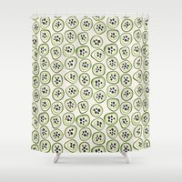 kiwi Shower Curtains featuring Kiwi by Valendji