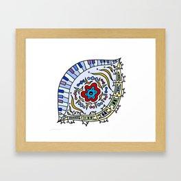Pop Eye (Red) Framed Art Print