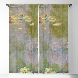 Water Lilies (1919) by Claude Monet high resolution famous painting Blackout Curtain