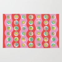 bubblegum Area & Throw Rugs featuring Bubblegum by K I R A   S E I L E R