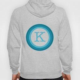 Blue letter K Hoody