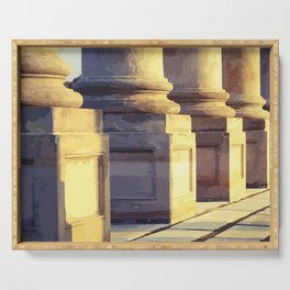 National Capitol Columns Bases Serving Tray