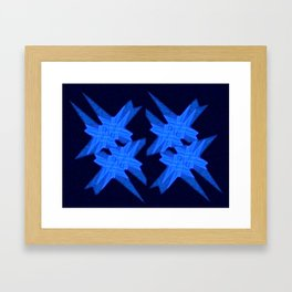 Blue Crystals Framed Art Print