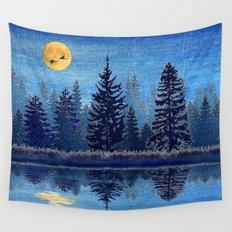 Denim Design Pine Barrens Reflection Wall Tapestry