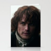 outlander Stationery Cards featuring Jamie Fraser by LindaMarieAnson