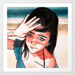 Take a Break! (beach life) Art Print