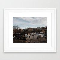 edinburgh Framed Art Prints featuring Edinburgh by Nicola Jewell