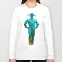 general Long Sleeve T-shirts featuring general, Eisenhower by seb mcnulty