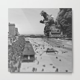 Old Time Godzilla in Atlantic City Metal Print