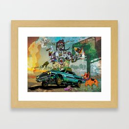 B-Side Low Ride Framed Art Print