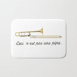 Trombone Surrealism Bath Mat