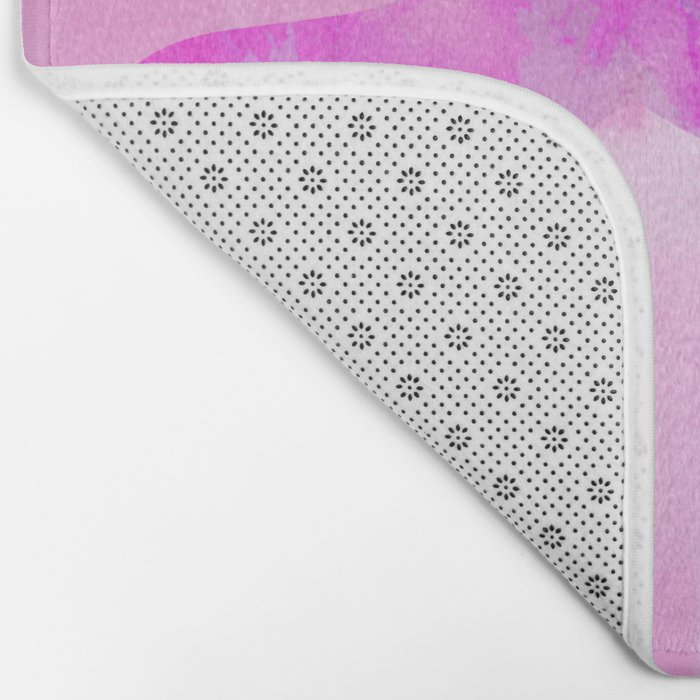 Abstract Flying Dove Bath Mat