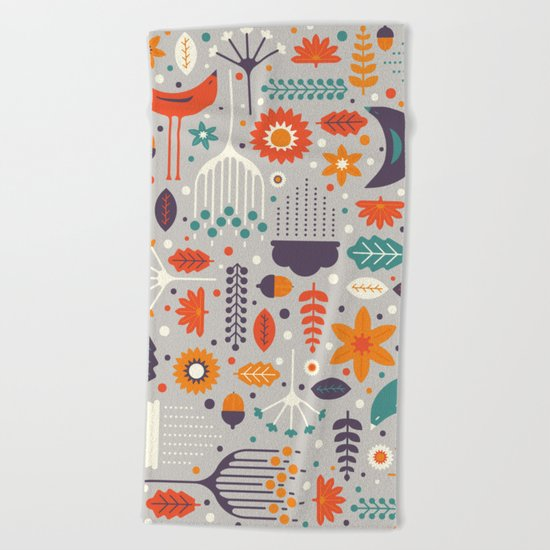 Flora & Fauna Beach Towel