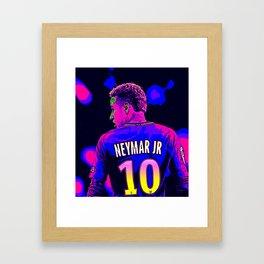 Neon Neymar Framed Art Print