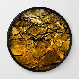 Gold Labradorite Crystal Wall Clock