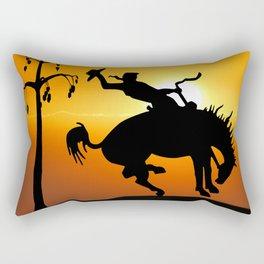 cowboy silhouette Rectangular Pillow