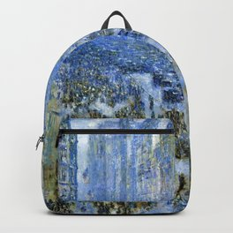 Classical Masterpiece Fifth Avenue In Winter by Frederick Childe Hassam Backpack