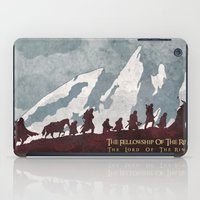 tolkien iPad Cases featuring The fellowship of the ring by WatercolorGirlArt