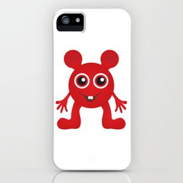 Red Smiley Man iPhone Case