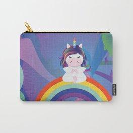 Unicorn yoga meditation on the rainbow Carry-All Pouch