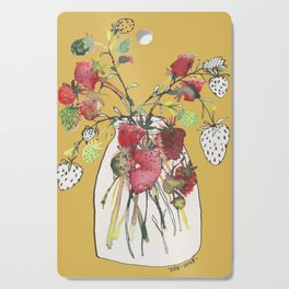 Strawberries & Mustard Cutting Board