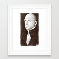 will graham Framed Art Prints featuring Graham McTavish by Alessia Pelonzi
