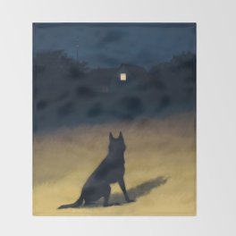 Night in the Hills Throw Blanket
