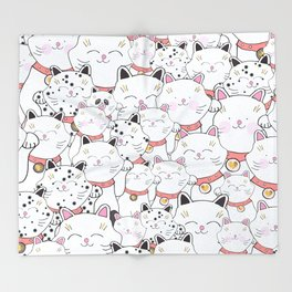 FIND THE PANDA - LUCKY CAT Throw Blanket