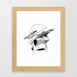 Skull (Liquify) Framed Art Print