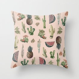 Drawing Nature Stuff Throw Pillow