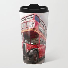 Old Red London Bus Vintage transport Travel Mug