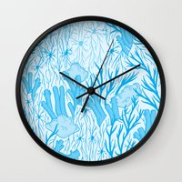 medicine Wall Clocks featuring Modern Medicine by Nat Chartres