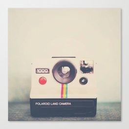 portrait of a polaroid ...  Canvas Print