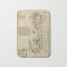 Map Of Bermuda 1750 Bath Mat