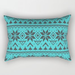 Knitted Christmas pattern retro 4 Rectangular Pillow