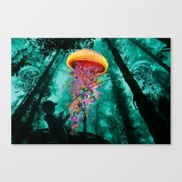 Jellyfishing in Color Canvas Print