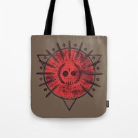 30 seconds to mars Tote Bags featuring Mars by Hector Mansilla